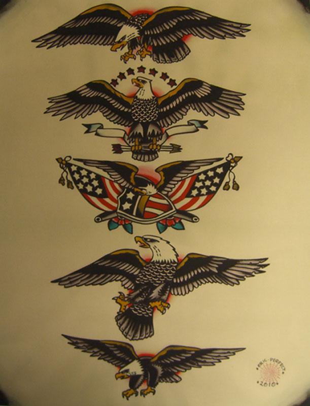 EagleFlash2010.jpg (611×800)   Eagle tattoos, Traditional ...